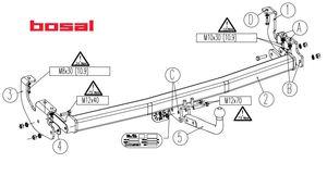 Фаркоп для Renault Kangoo 2 (2008 -) Bosal-VFM 1426-A