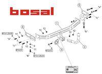 Фаркоп для Kia Cee'd Хэтчбэк (2007 - 2012) Bosal-VFM 6737-A