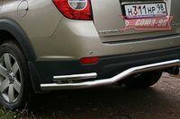 """Защита задняя """"волна"""" d60/42 двойная для Chevrolet Captiva (2006 -) CCAP.75.0497"""