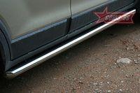 """Пороги """"труба"""" d60 для Chevrolet Captiva (2006 -) CCAP.80.0490"""