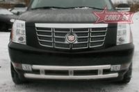 Защита переднего бампера d60/60 двойная для Cadillac Escalade (2007 -) CDES.48.0608
