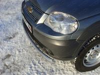 Защита передняя (овальная) 75x42 мм для Chevrolet Niva (2009 -) CHEVNIV12-01