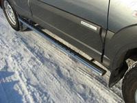 Пороги овальные с проступью 75x42 мм для Chevrolet Niva (2009 -) CHEVNIV12-02