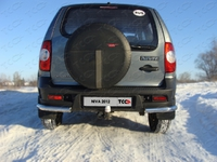 Защита задняя (уголки) 60,3 мм для Chevrolet Niva (2009 -) CHEVNIV12-05