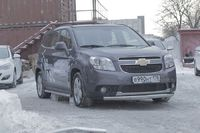 """Защита переднего бампера """"труба"""" овальная 75х42 для Chevrolet Orlando (2012 -) CHOR.48.1587"""