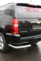 """Защита заднего бампера  d76/42 """"уголки"""" одинарные для Chevrolet Tahoe (2008 -) CHTH.76.0711"""
