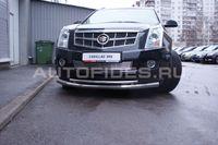 """Защита переднего бампера """"труба"""" d76/42 двойная для Cadillac SRX (2011 -) CSRX.48.1355"""