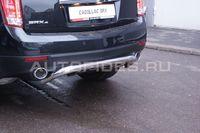 Защита задняя d60 с элементами из профиля для Cadillac SRX (2011 -) CSRX.75.1358