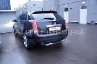 """Защита задняя """"ступень"""" d76 для Cadillac SRX (2011 -) CSRX.77.1360"""