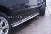 Пороги с листом d42 для Cadillac SRX (2011 -) CSRX.82.1357