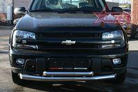 Защита переднего бампера d76/60 двойная для Chevrolet Trail Blazer (2006 -) CTRB.48.0634