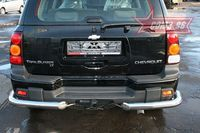 """Защита заднего бампера """"уголки"""" d76 одинарные для Chevrolet Trail Blazer (2006 -) CTRB.76.0635"""