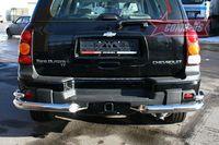"Защита заднего бампера ""уголки"" d76/42 двойные для Chevrolet Trail Blazer (2006 -) CTRB.76.0636"