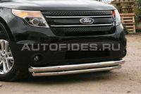 Защита переднего бампера d76/60 двойная для Ford Explorer (2012 -) FEXP.48.1300