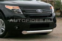 Защита переднего бампера d 100 одинарная для Ford Explorer (2012 -) FEXP.48.1304