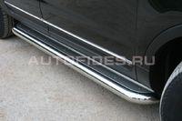 Пороги с нержавеющим листом d76 для Ford Explorer (2012 -) FEXP.82.1308
