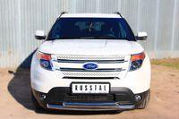 Защита переднего бампера  d63 / d63 (дуга) для Ford Explorer (2012 -) FEZ-001307