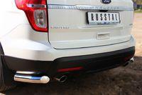 Защита заднего бампера уголки d76 (секции) для Ford Explorer (2012 -) FEZ-001316