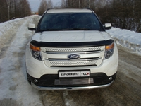 Решётка радиатора 12 мм для Ford Explorer (2012 -) FOREXPL12-08