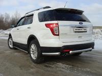 Защита задняя (центральная короткая) 75х42 мм для Ford Explorer (2012 -) FOREXPL12-11