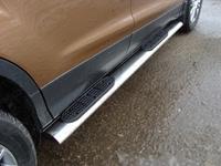 Пороги овальные с накладкой 120х60 мм для Ford Kuga (2013 -) FORKUG13-08