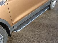 Пороги с площадкой (нерж. лист) 42,4 мм для Ford Kuga (2013 -) FORKUG13-14