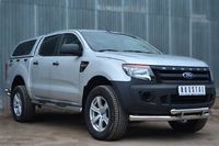 Защита переднего бампера d76 (секции) d63 (дуга) с декор элементами для Ford Ranger (2012 -) FRZ-001302