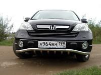Решетка передняя с защитой d60,3/42,4 для Honda CR-V (2007 -) HONCRV-02
