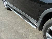 Пороги овальные с накладками 75х42 мм для Honda CR-V (2012 -) HONCRV13-08