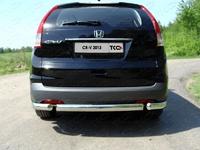Защита задняя (овальная короткая) 75х42 мм для Honda CR-V (2012 -) HONCRV13-15