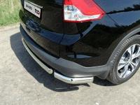 Защита задняя (уголки овальные) 75х42 мм для Honda CR-V (2012 -) HONCRV13-18