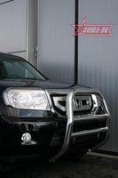 Решетка передняя мини d76 высокая для Honda Pilot (2008 -) HPIL.55.0715