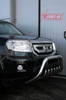 """Решетка передняя мини d76 """"низкая"""" для Honda Pilot (2008 -) HPIL.57.0714"""