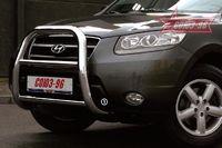 Решётка передняя мини d76 высокая для Hyundai Santa Fe (2006 -) HSFE.55.0319