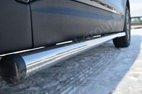 Пороги труба d63  (вариант 2) для Hyundai Santa Fe (2012 -) HSFT-001222/2
