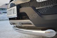 Защита переднего бампера  d76 (дуга)  для Hyundai Santa Fe (2012 -) HSFZ-001219
