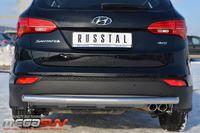 Защита заднего бампера d63 (дуга) для Hyundai Santa Fe (2012 -) HSFZ-001225