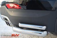 Защита заднего бампера уголки d63/42 для Hyundai Santa Fe (2012 -) HSFZ-001229