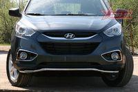 Защита переднего бампера d42 волна для Hyundai IX35 (2010 -) HYIX.48.1059