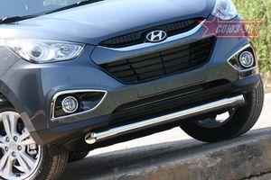 Защита переднего бампера d76 короткая для Hyundai IX35 (2010 -) HYIX.48.1060