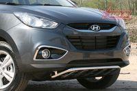 Решетка передняя мини d42 низкая с защитой из профильной трубы для Hyundai IX35 (2010 -) HYIX.57.1057