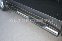 """Пороги """"труба"""" с двумя проступями d76 для Hyundai IX55 (2009 -) HYIX.81.0901"""