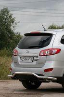 Защита заднего бампера волна d60 для Hyundai Santa Fe (2010 -) HYSF.75.1156