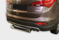 Защита задняя ступень d76 для Hyundai Santa Fe (2012 -) HYSF.77.1631