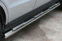 """Пороги """"труба"""" d76 с тремя декоративными элементами для Hyundai Santa Fe (2010 -) HYSF.84.1152"""