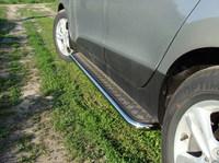 Пороги с площадкой 42,4 мм для Hyundai IX35 (2010 -) HYUNIX35-02