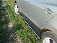 Пороги труба 60,3 мм для Hyundai IX35 (2010 -) HYUNIX35-03