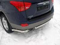 Защита задняя (центральная) 60мм для Hyundai IX55 (2009 -) HYUNIX55-05