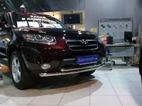 Защита передняя нижняя 60,3/42,4мм для Hyundai Santa Fe (2006 -) HYUNSF-02