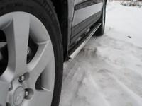 Пороги овальные с проступью 75x42мм для Hyundai Santa Fe (2006 -) HYUNSF-04
